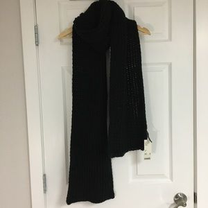 Urban Outfitters black chunky knit scarf.